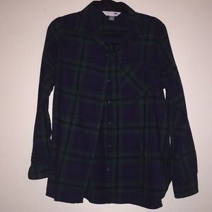 Old Navy plaid flannel shirt